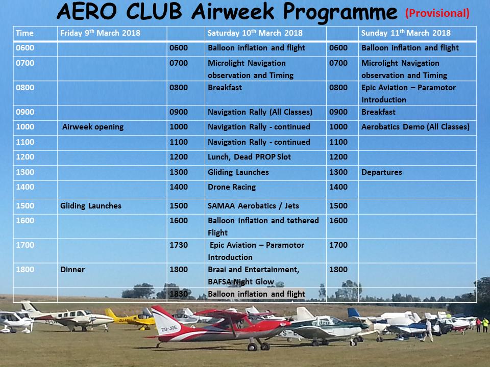 Air Week 2018 events