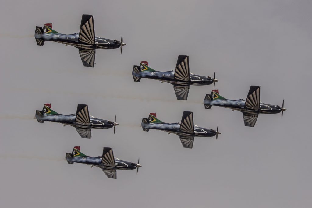 6 Ship Silver Falcons Aerobatic Team