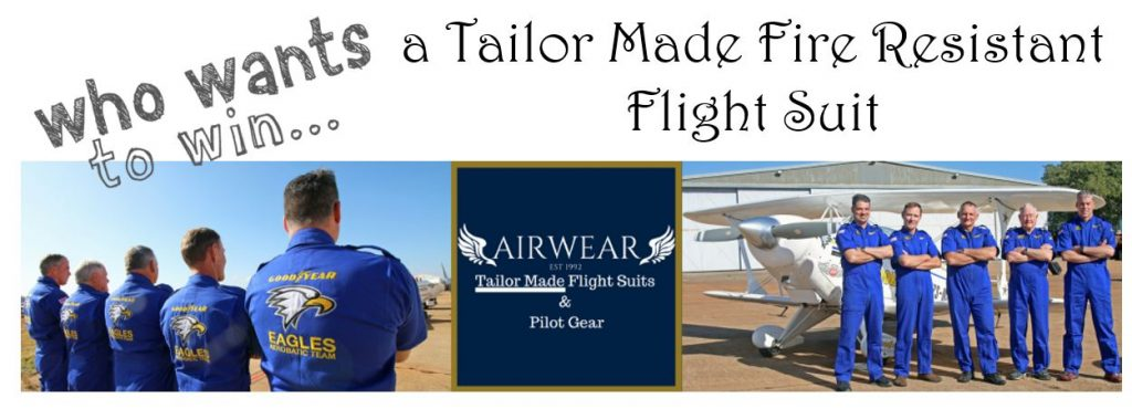 Win a Tailor Made Fire Resistant Flight Suit
