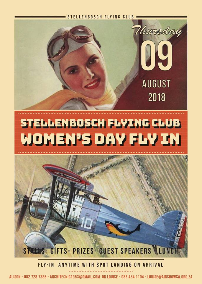 Stellenbosch Flying Club Women's day Fly In @ stellenbosch flying club | Stellenbosch | Western Cape | South Africa