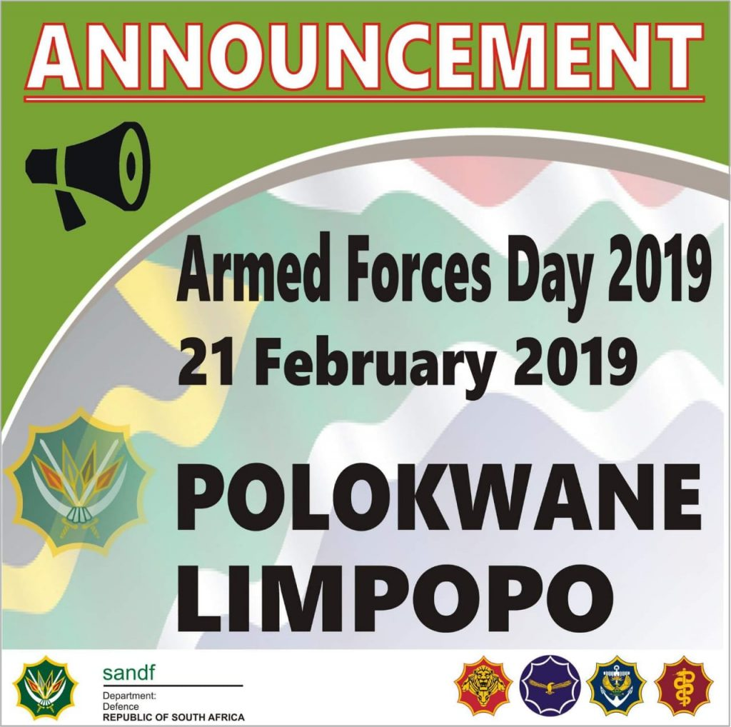 Armed Forces Day 2019 @ Polokwane, South Africa | Polokwane | Limpopo | South Africa