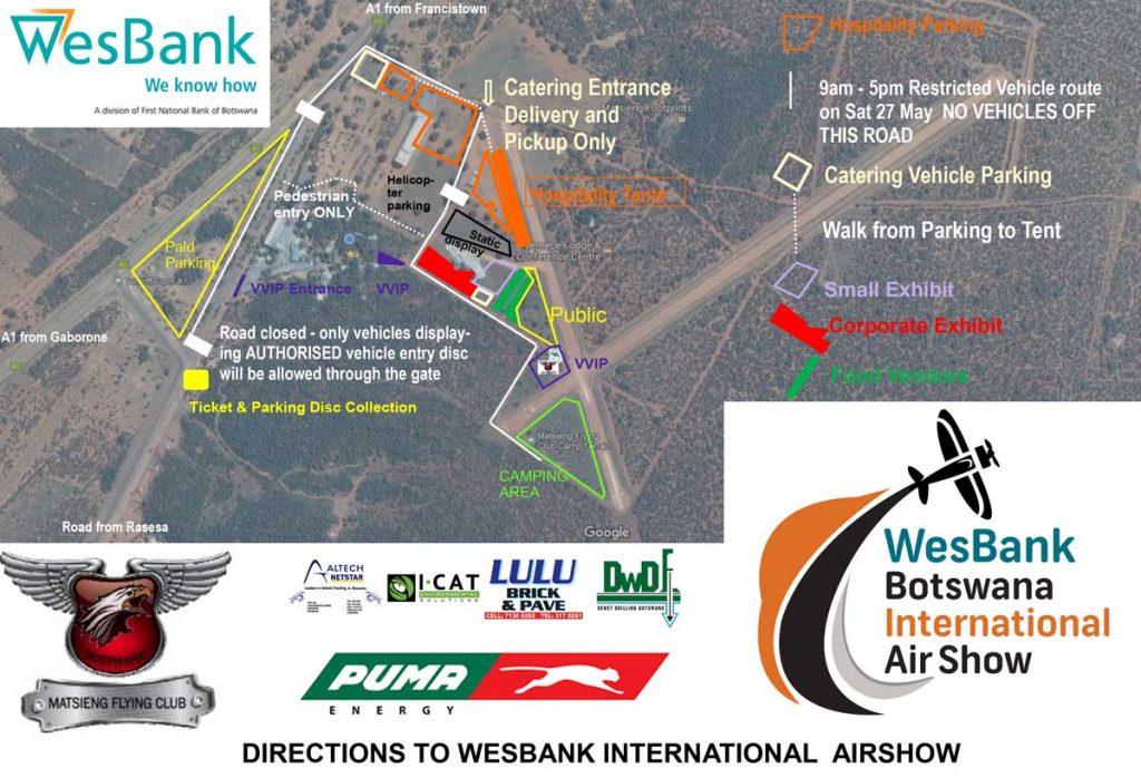 Matsieng Airshow Map
