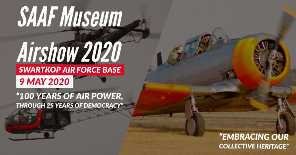 SAAF Museum Airshow Date set for 9th May 2020