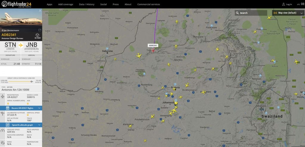 www.flightradar24.com AN-124 Flight ADB2341