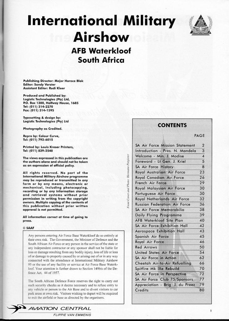 SAAF 75 Program page 2