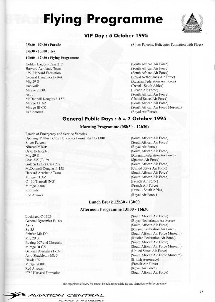 SAAF 75 Program page 3