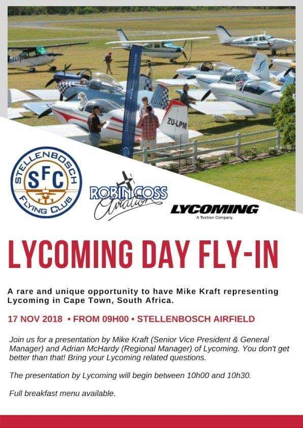 Stellenboch - Lycoming day fly-in @ Stellenboch Airfield | Stellenbosch | Western Cape | South Africa