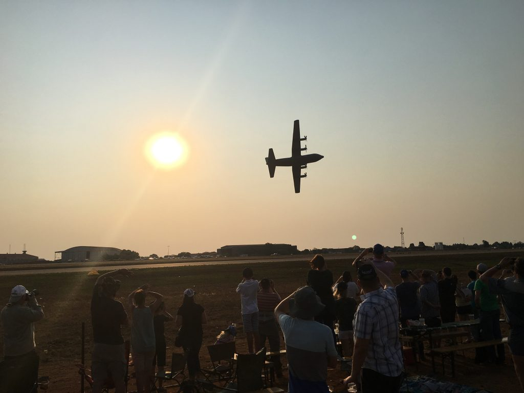 C-130 sunset at AAD 2018