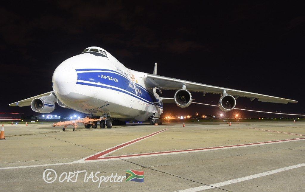 An-124 at O.R. Tambo International Airport