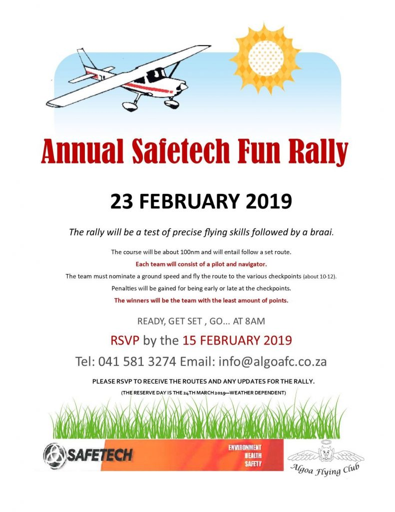 Algoa Flying Club - Annual Seftech Fun Rally @ Algoa Flying Club  | Port Elizabeth | Eastern Cape | South Africa
