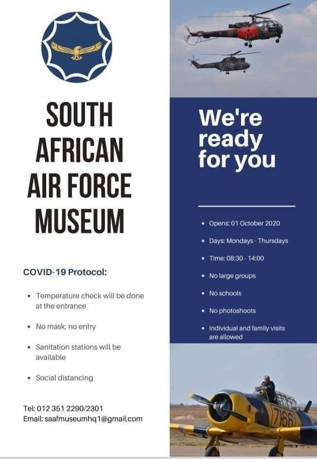 COVID Aviation Trips – SAAF Museum Swartkop
