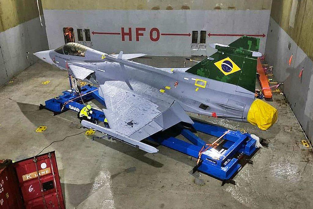 First Brazilian Saab Gripen E Arrives in Brazil