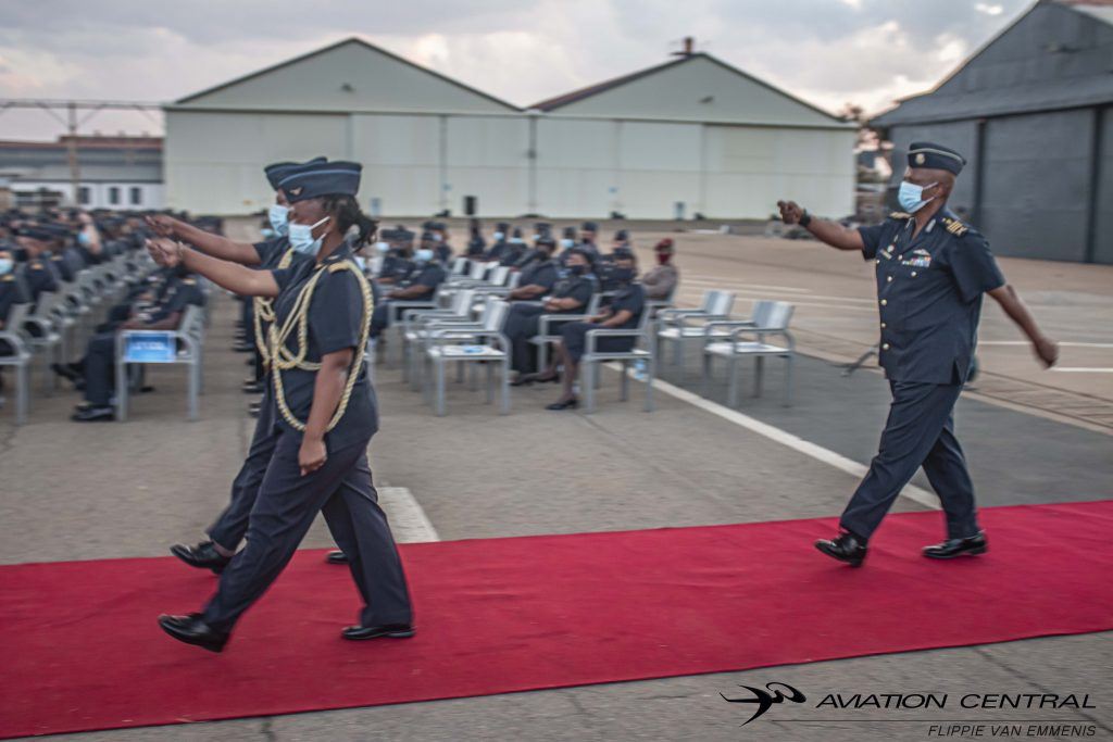 Chief of The SAAF Lieutenant General Fabian Msimang Retreat Parade